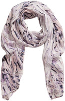 H&M - Silk Scarf - White/patterned - Ladies