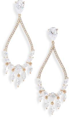Nadri Small Teardrop Chandelier Earrings