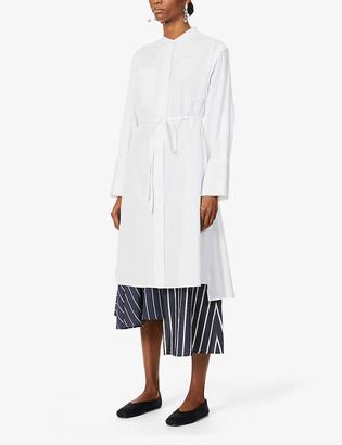 Rito Belted cotton midi shirt dress