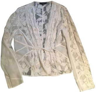 Atelier Stills White Cotton Jacket for Women Vintage
