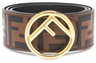 Fendi Ff-embossed Leather Belt - Black Brown