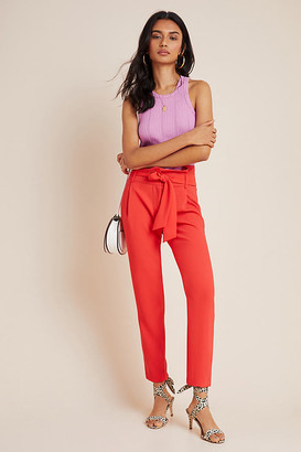 Ikks Nathalie Tapered Trousers By in Red Size 10
