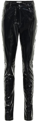 Tibi Tech Patent Skinny pants