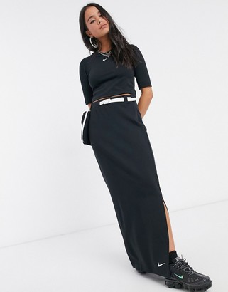 Nike Tech Pack maxi skirt with utility pocket in black