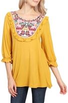 Riah Fashion Ethnic Pattern Tunic Top