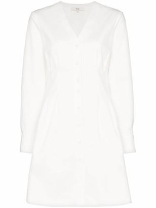 Tibi Dominic twill shirt-dress