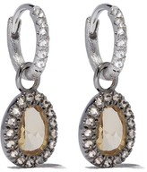 Annoushka 18kt white gold diamond small drop earrings