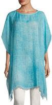 Eileen Fisher Maltinto Modal Organic Linen Poncho, Plus Size