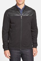 HUGO BOSS Casino Faux Leather Zip Jacket