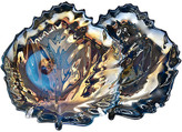 One Kings Lane Vintage Murano Iridescent Glass Plates - Set of 2 - Portfolio No.6 - teal/luster
