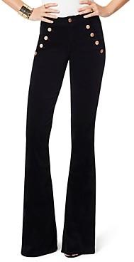 Ramy Brook Velveteen Helena Flare Jeans in Black