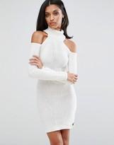 Lipsy Cold Shoulder Turtleneck Dress