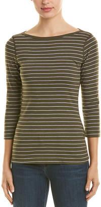 Three Dots Autumn Stripe T-Shirt