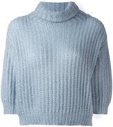 Brunello Cucinelli ribbed detail jumper - women - Polyamide/Mohair/Wool - M