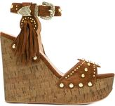 Ash 'Bliss' wedge sandals - women - Cork/Leather/Suede/metal - 37