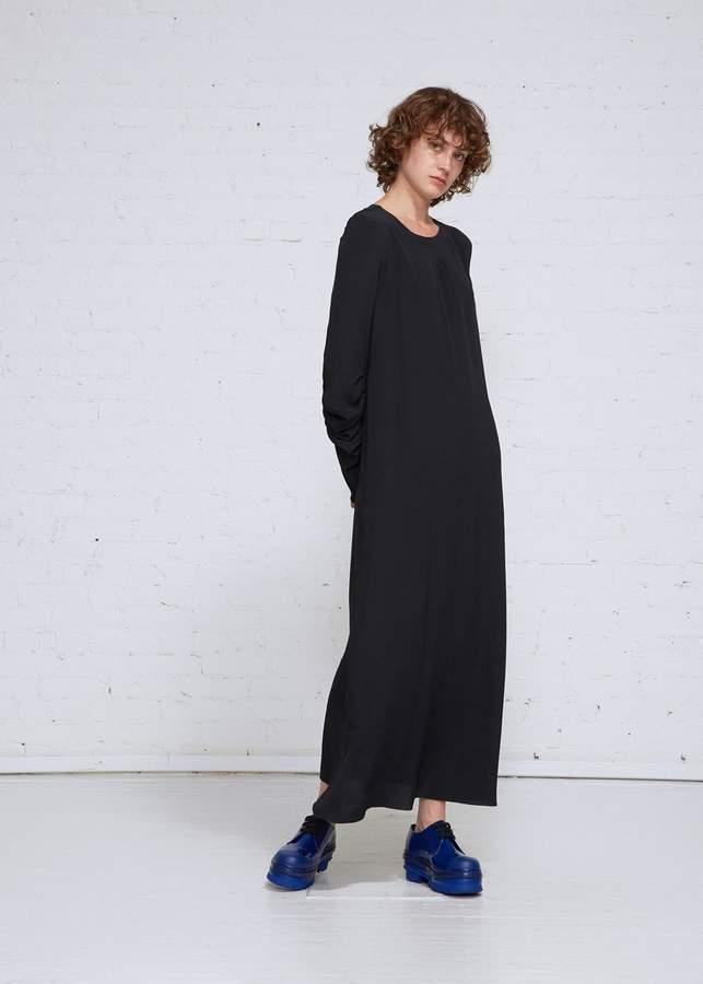 Marni Ruched Sleeve Silk Dress