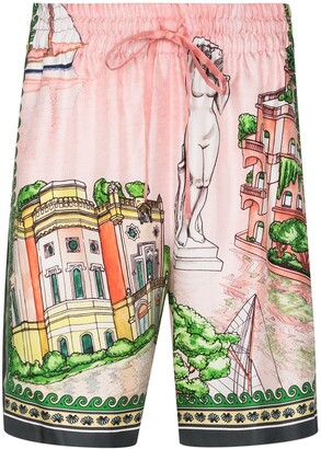 Casablanca x Browns 50 graphic-print Bermuda shorts
