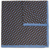 Anderson & Sheppard - Polka-dot Wool Pocket Square - Dark brown