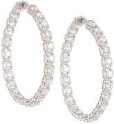Neiman Marcus Diamonds 14k Diamond Illusion Hoop Earrings, 3.0tcw