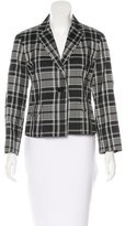 Akris Punto Plaid Single Button Blazer