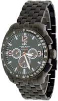 Adee Kaye Men's Black IP Sports Multi-Function Automatic Watch Model AK-4072-MBIPB1