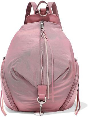 Rebecca Minkoff Julian Mini Convertible Leather-trimmed Shell Backpack
