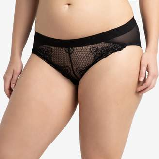 La Redoute Collections Plus Lace and Tulle Briefs