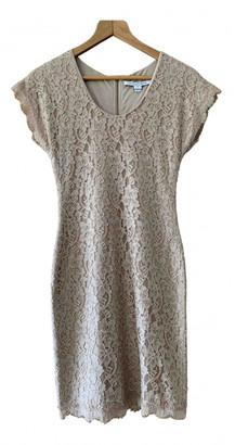 Diane von Furstenberg Beige Silk Dresses