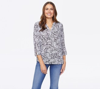 NYDJ Pullover 3/4 Sleeve Perfect Blouse