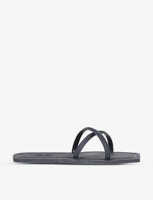 Carlotha Ray Square-toe scented rubber flip-flops