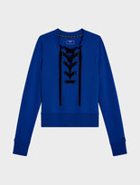 DKNY Lace Up Pullover Sweatshirt