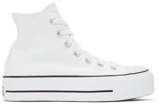 Converse White Chuck Taylor All Star Lift High Sneakers
