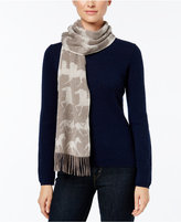 Charter Club Horse Print Woven Cashmere Scarf, Only at Macy's
