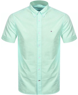 Tommy Hilfiger Slim Fit Short Sleeve Shirt Green
