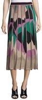 M Missoni Paneled Geometric Intarsia Midi Skirt, Multi