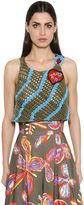 Peter Pilotto Crocheted Cotton Crop Top W/ Patch