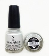 China Glaze Nail Polish, White On White, 0.5 Ounce