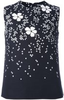 DSQUARED2 floral detail sleeveless blouse - women - Polyester/Cotton/Viscose/Polyamide - 40