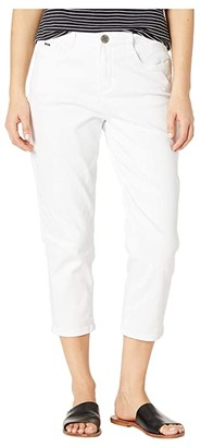 FDJ French Dressing Jeans Petite Statement White Denim Suzanne Crop in White (White) Women's Jeans