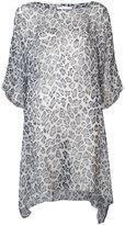 Faith Connexion oversized leopard print blouse