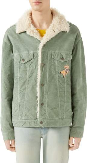 Gucci Corduroy Western Jacket with Faux Shearling Lining