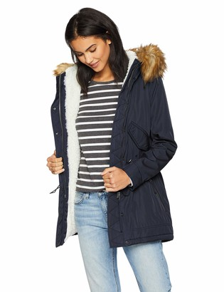 S13 Women's Canyon Thigh Length Sherpa Lined Parka with Faux Fur Hood