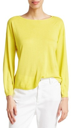 Eileen Fisher Boatneck Knit Pullover