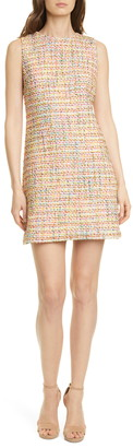Alice + Olivia Coley Tweed Sleeveless Mini Dress