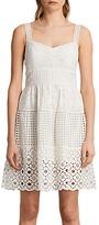 AllSaints Janey Tier Dress, Chalk White