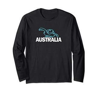 Australia Badass Blue Sea Turtle Long Sleeve T-Shirt