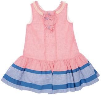 Mimisol Cotton & Linen Gingham Dress