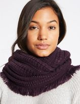 Marks and Spencer Textured Fringe Snood Scarf