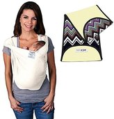 Baby K'tan Baby Ktan Organic Cotton Baby Carrier in Natural + Natural Zig Zag K'tanCloth