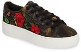 Steve Madden Women's Bertie Floral Applique Sneaker